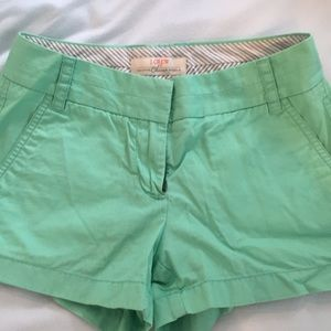 Jcrew chinco mint green shorts size 00
